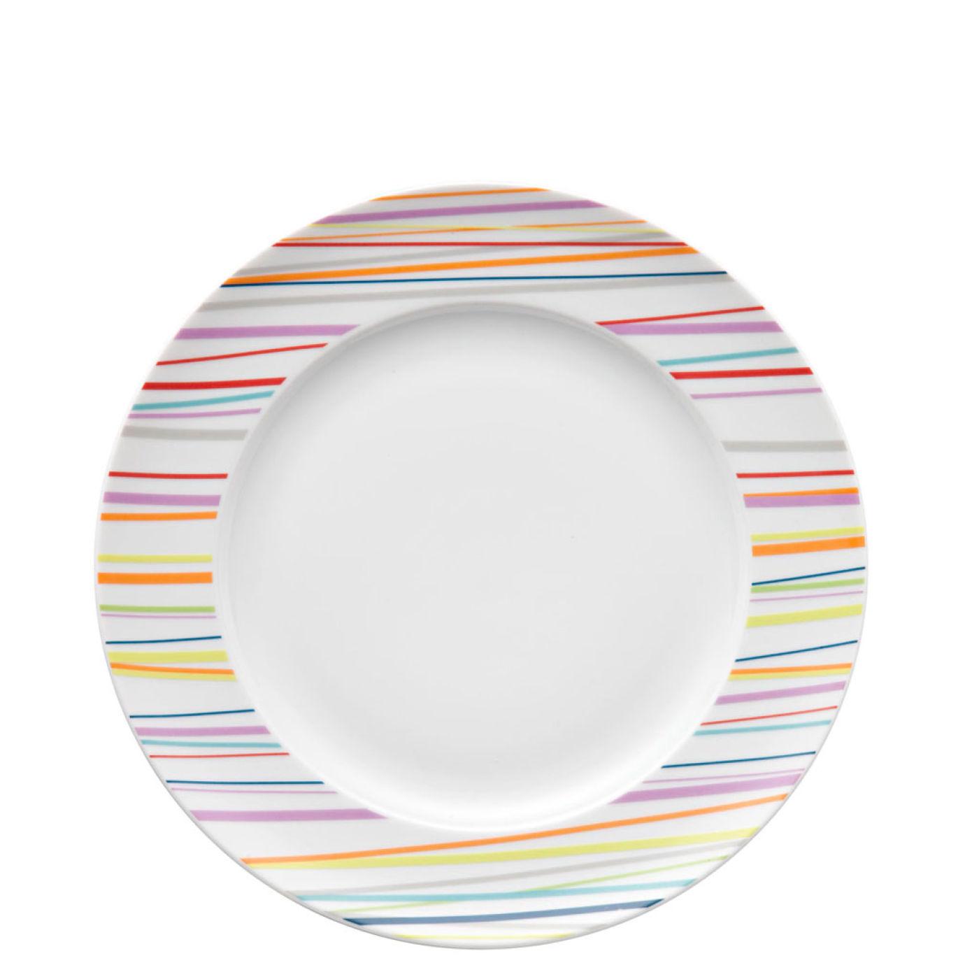 Набор столовый на 2 персоны Rosenthal SUNNY DAY, белый с цветными полосками, 10 предметов Rosenthal 10850-408715-28010 фото 1