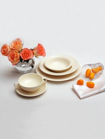 Набор столовой посуды Wedgwood EDME PLAIN, белый, 12 предметов  40009369 фото 1