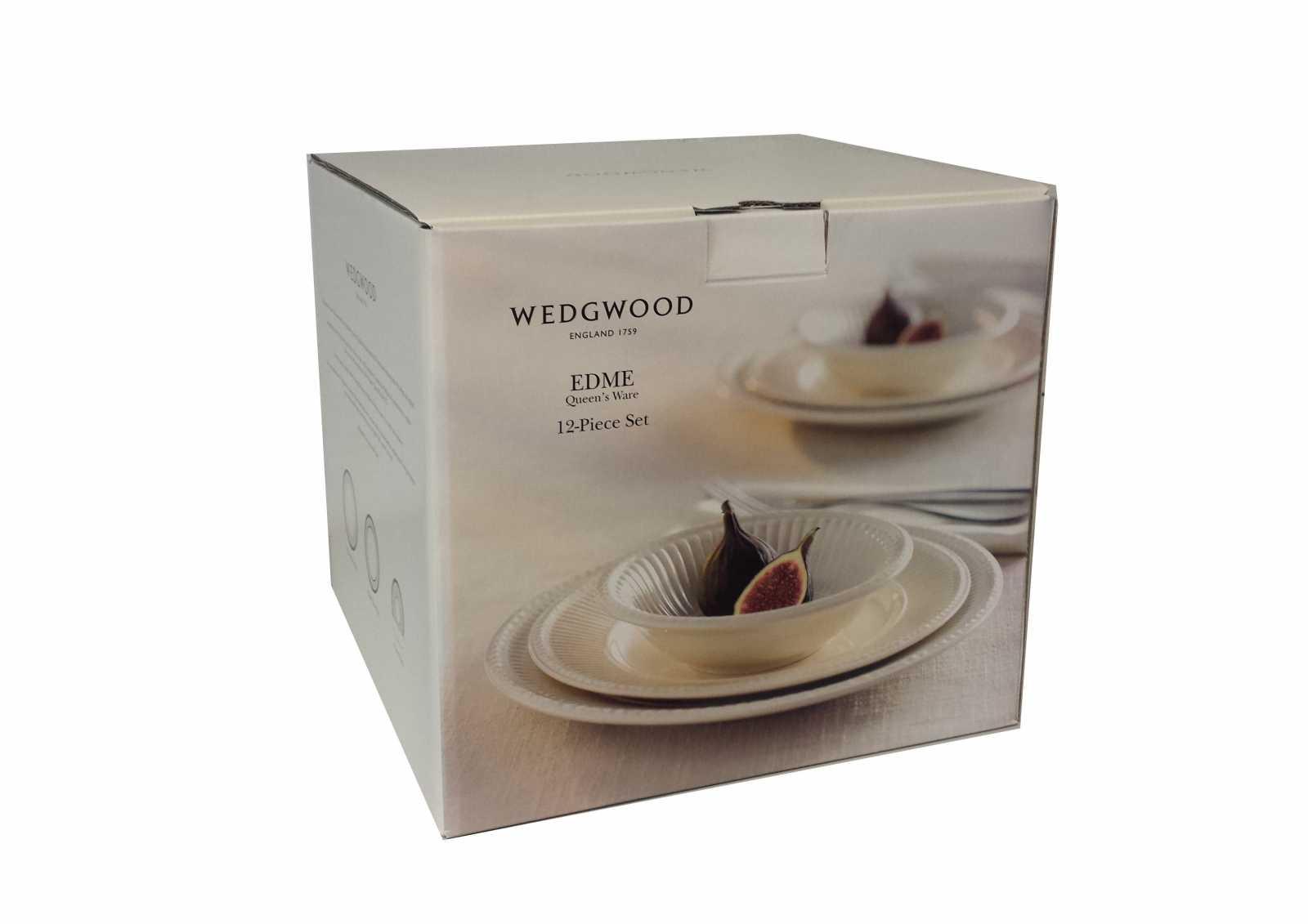 Набор столовой посуды Wedgwood EDME PLAIN, белый, 12 предметов  40009369 фото 5