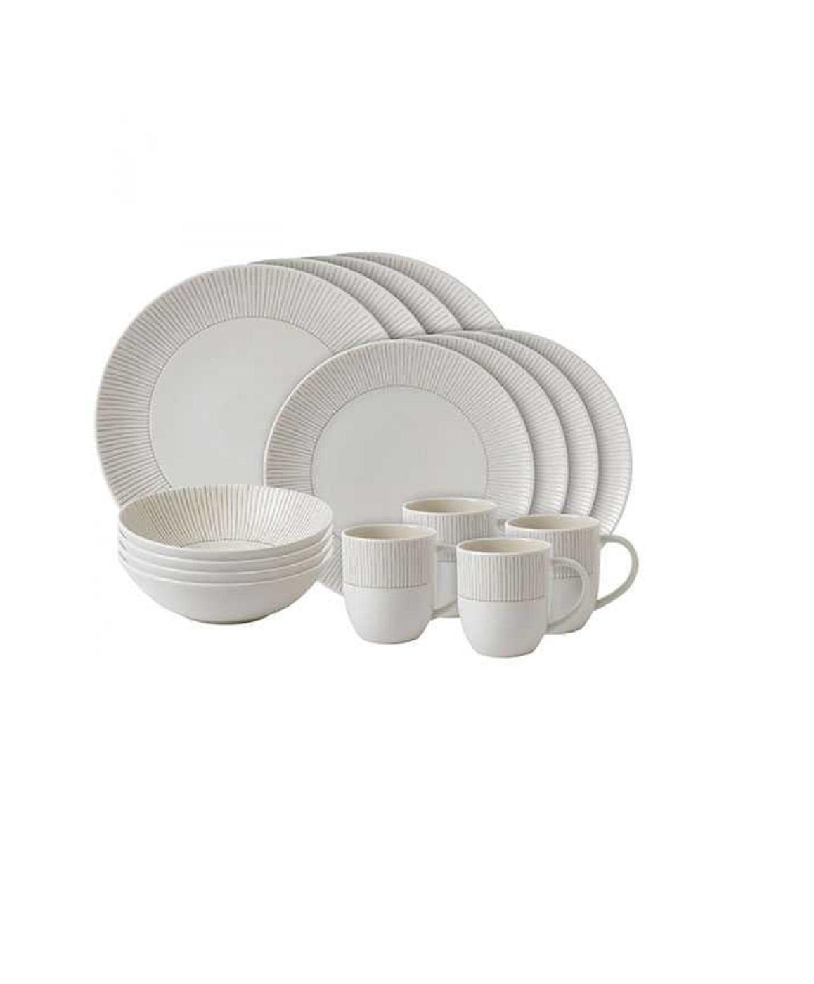 Онлайн каталог PROMENU: Набор столовой посуды Royal Doulton ED TABLEWARE, бежевый, 16 предметов                               40027621