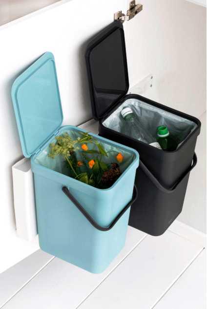 Набор: ведро для мусора на подставке Brabantia, объем 12 л, 2 шт. Brabantia 109980 фото 8