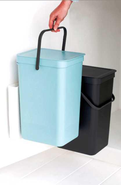 Набор: ведро для мусора на подставке Brabantia, объем 12 л, 2 шт. Brabantia 109980 фото 6