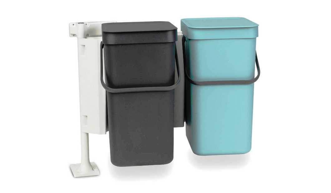 Набор: ведро для мусора на подставке Brabantia, объем 12 л, 2 шт. Brabantia 109980 фото 0