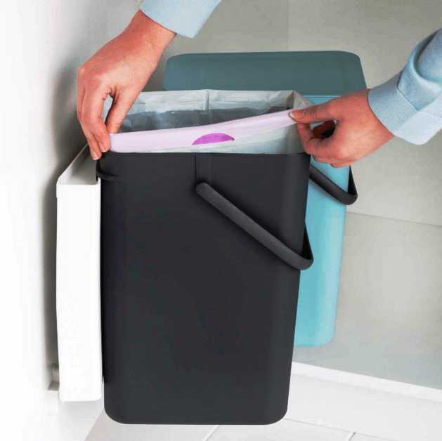 Набор: ведро для мусора на подставке Brabantia, объем 12 л, 2 шт. Brabantia 109980 фото 4