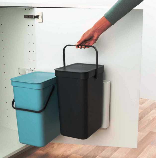 Набор: ведро для мусора на подставке Brabantia, объем 12 л, 2 шт. Brabantia 109980 фото 2