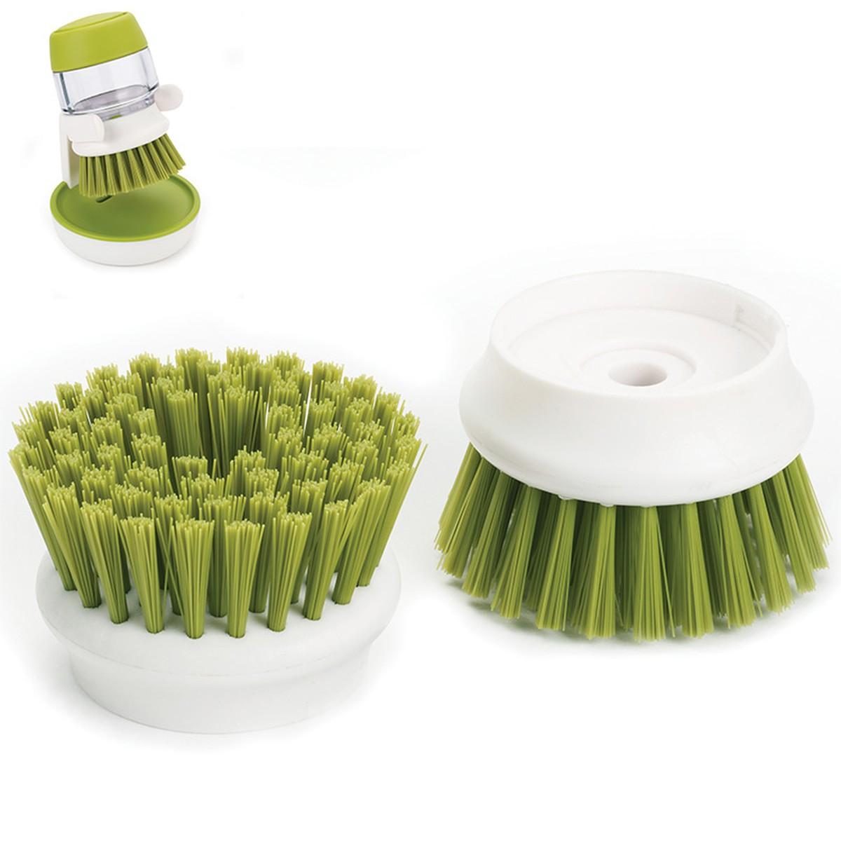 Онлайн каталог PROMENU: Насадки сменные для щетки с дозатором Joseph Joseph palm scrub, 2 шт, зеленый Joseph Joseph 85038