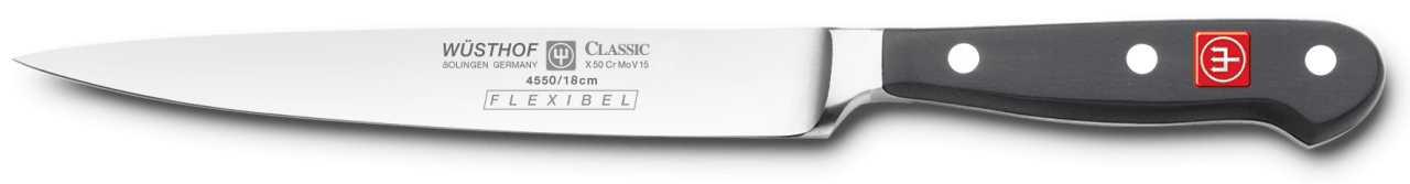 Онлайн каталог PROMENU: Нож для филе рыбы Wuesthof Classic, длина 16 см Wuesthof 4550/18