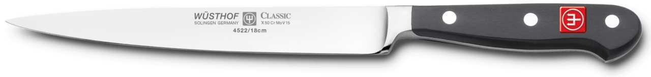 Онлайн каталог PROMENU: Нож для нарезки Wuesthof Classic, длина 18 см Wuesthof 4522/18