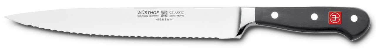 Онлайн каталог PROMENU: Нож для нарезки Wuesthof Classic, длина 23 см, черный Wuesthof 4523/23