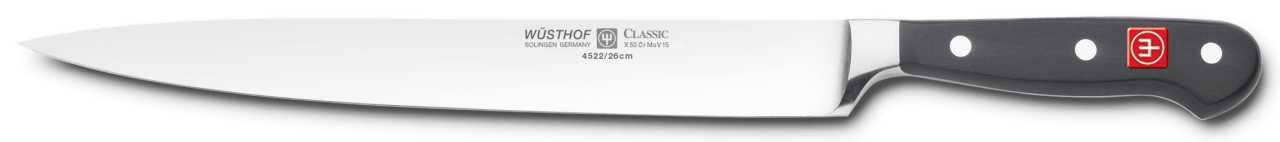 Онлайн каталог PROMENU: Нож для нарезки Wuesthof Classic, длина 26 см Wuesthof 4522/26