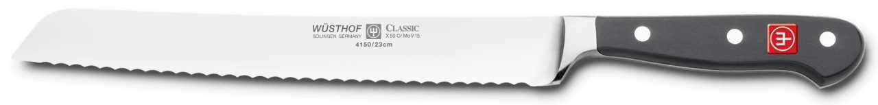 Онлайн каталог PROMENU: Нож для нарезки хлеба Wuesthof Classic, длина 23 см Wuesthof 4150