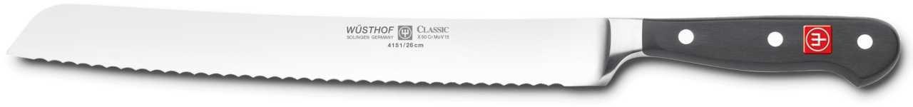 Онлайн каталог PROMENU: Нож хлебный Wuesthof Classic, длина 26 см Wuesthof 4151
