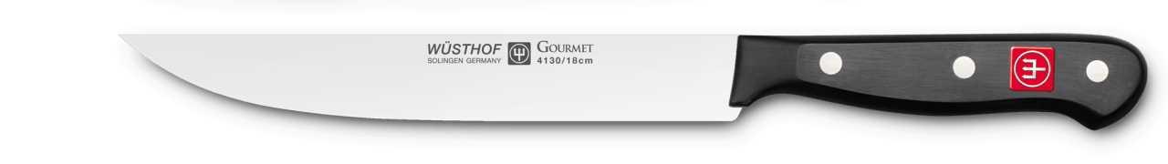 Онлайн каталог PROMENU: Нож кухонный Wuesthof Gourmet, длина 18 см Wuesthof 4130/18