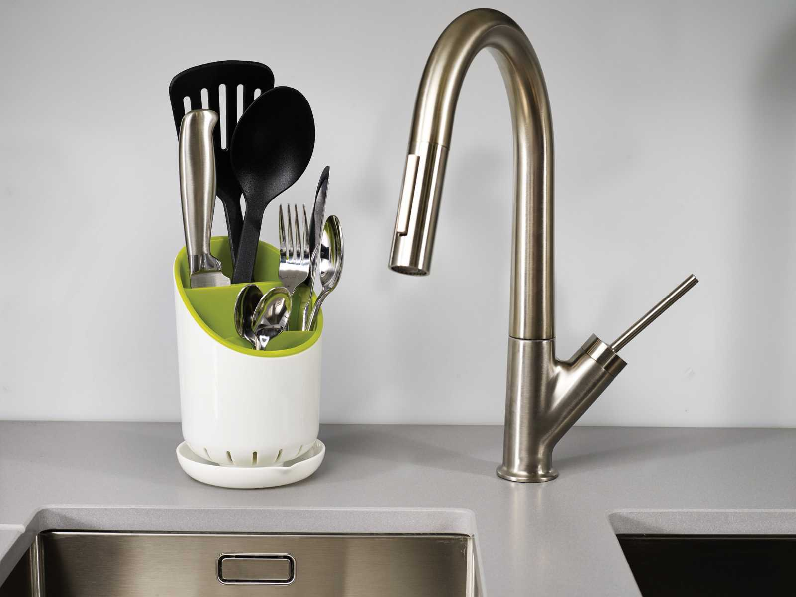 Органайзер для кухонных приборов со сливом Joseph Joseph dock, 12х19х12,7 см, зеленый Joseph Joseph 85074 фото 1
