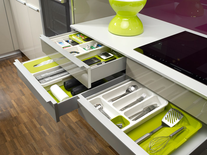 Органайзер для кухонных принадлежностей раздвижной Joseph Joseph DRAWERSTORE, 48х38х5,5 см, серый Joseph Joseph 85042 фото 3