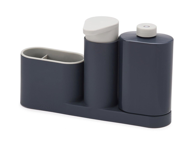 Онлайн каталог PROMENU: Органайзер для раковины на 3 секции, с дозатором для мыла и бутылочкой Joseph Joseph sinkbase plus, 27х16,5х6 см, серый Joseph Joseph 85091