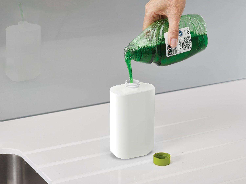 Органайзер для раковины на 3 секции, с дозатором для мыла и бутылочкой Joseph Joseph sinkbase plus,  27х16,5х6 см, зеленый Joseph Joseph 85082 фото 4