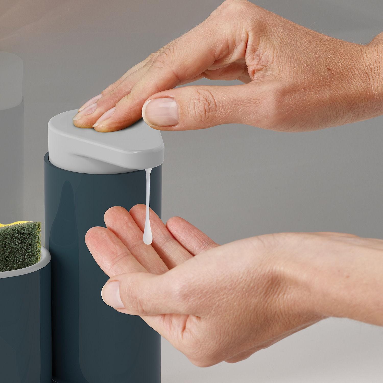 Органайзер для раковины с дозатором для мыла на 2 секции Joseph Joseph sinkbase, 17,8х16,5х6 см, серый Joseph Joseph 85090 фото 3