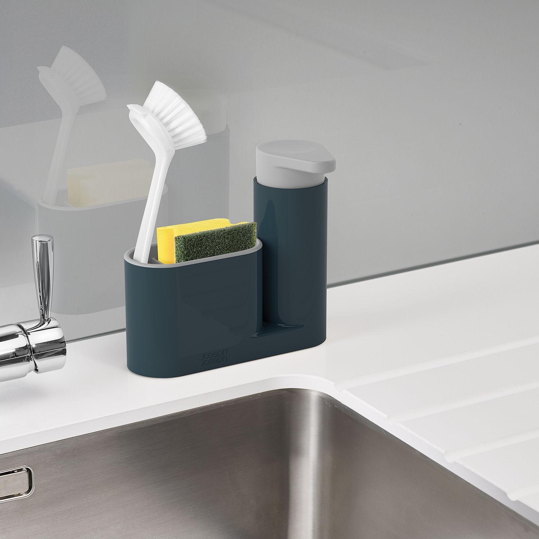 Органайзер для раковины с дозатором для мыла на 2 секции Joseph Joseph sinkbase, 17,8х16,5х6 см, серый Joseph Joseph 85090 фото 1