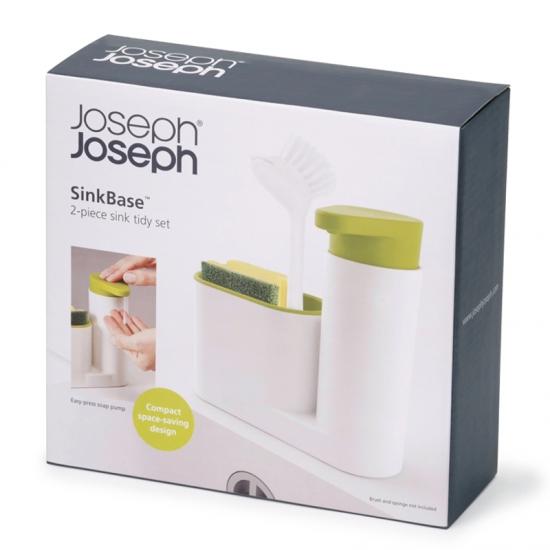 Органайзер для раковины с дозатором для мыла на 2 секции Joseph Joseph sinkbase, 17,8х16,5х6 см, зеленый Joseph Joseph 85081 фото 3