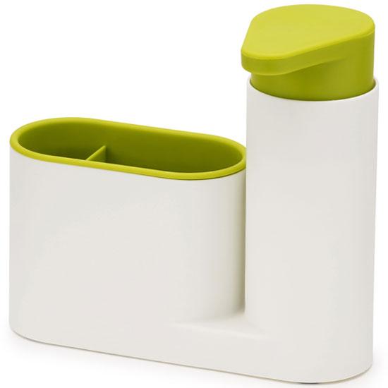 Онлайн каталог PROMENU: Органайзер для раковины с дозатором для мыла на 2 секции Joseph Joseph sinkbase, 17,8х16,5х6 см, зеленый Joseph Joseph 85081