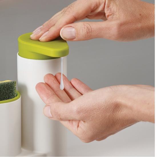Органайзер для раковины с дозатором для мыла на 2 секции Joseph Joseph sinkbase, 17,8х16,5х6 см, зеленый Joseph Joseph 85081 фото 1