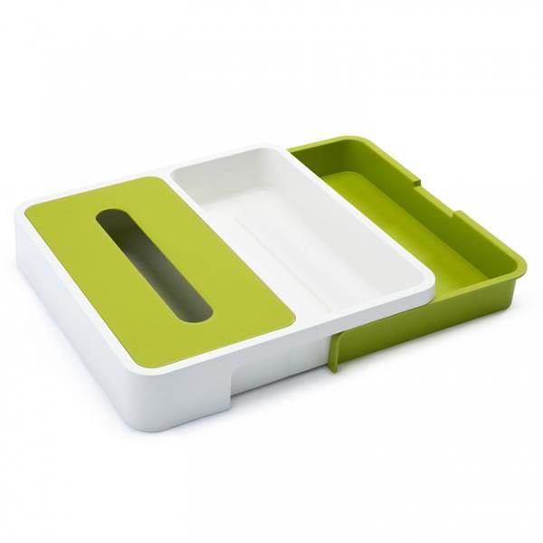 Онлайн каталог PROMENU: Органайзер раздвижной для кухонных принадлежностей Joseph Joseph, 5,5x36,5x54 см, зеленый Joseph Joseph 85045