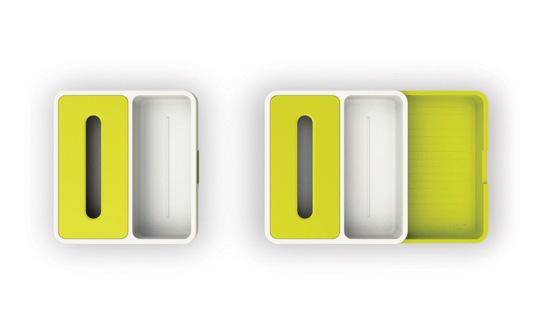 Органайзер раздвижной для кухонных принадлежностей 36,5х34х6 см зеленый Joseph Joseph 85043 фото 3