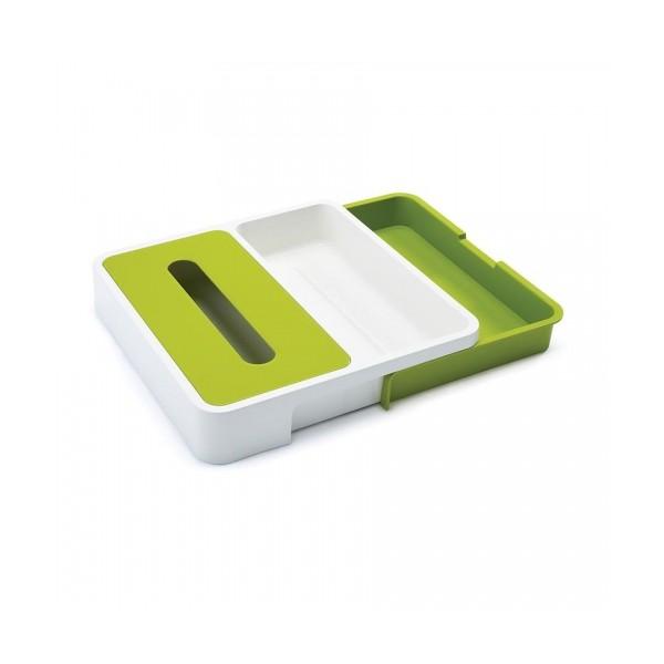 Органайзер раздвижной для кухонных принадлежностей 36,5х34х6 см зеленый Joseph Joseph 85043 фото 0