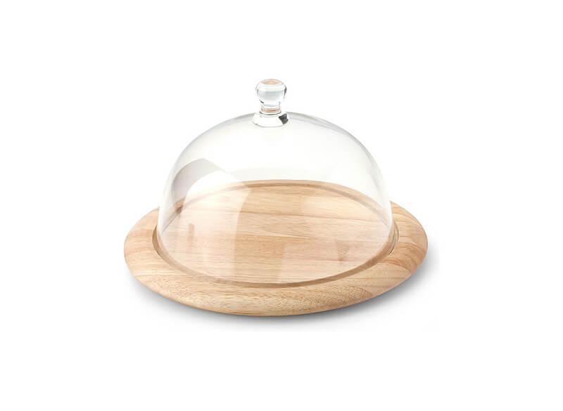 Онлайн каталог PROMENU: Поднос с крышкой для сыра Continenta GUMMIBAUM, диаметр 26 см, бежевый Continenta 3046