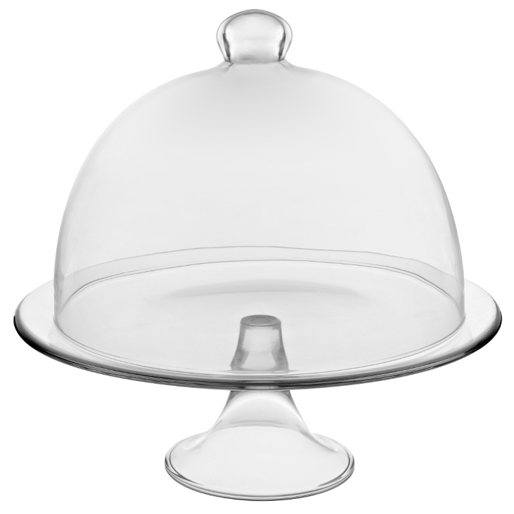 Подставка для торта с крышкой Vidivi BANQUET, диаметр 28 см, прозрачный Vidivi 67477M фото 1