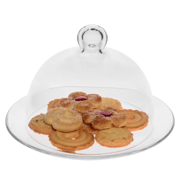Онлайн каталог PROMENU: Подставка для торта с крышкой Vidivi BANQUET, диаметр 33 см, прозрачный Vidivi 67465M