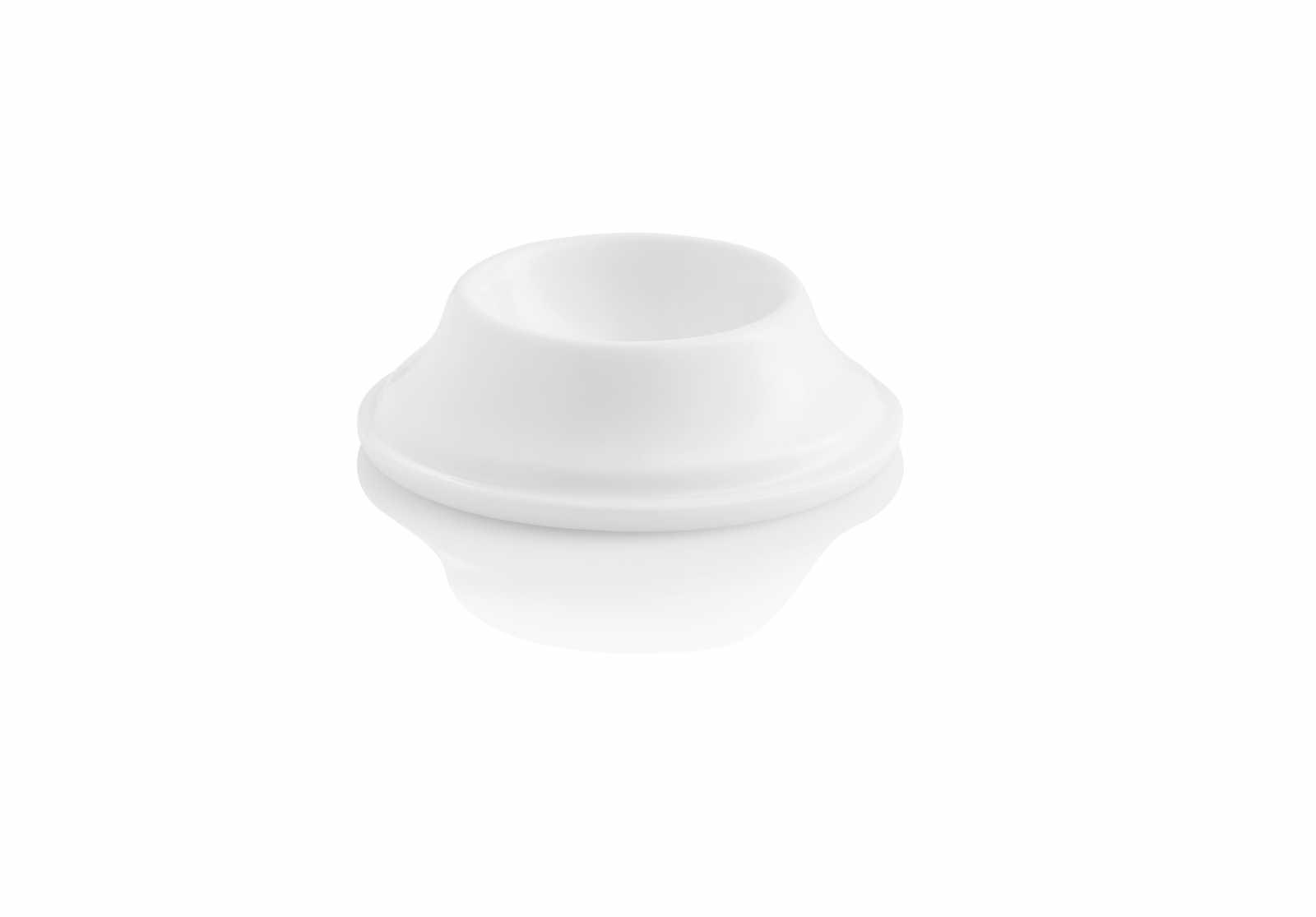 Онлайн каталог PROMENU: Подставка для яйца фарфоровая Aida Enso, высота 6,8 см, диаметр 2,1 см, белая                                   17105