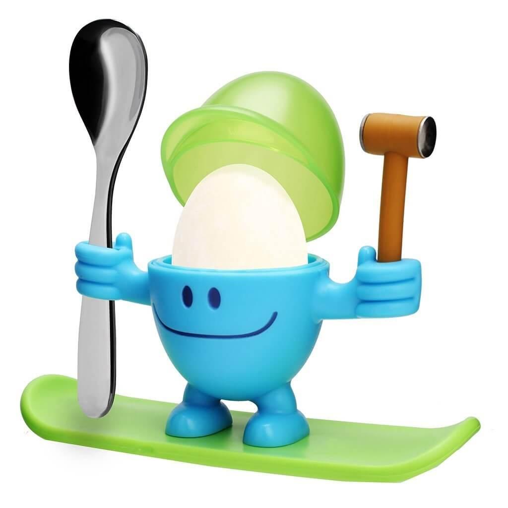 Онлайн каталог PROMENU: Подставка для яйца с ложкой WMF MCEGG, сине-зеленый, 2 предмета WMF 06 1668 7620