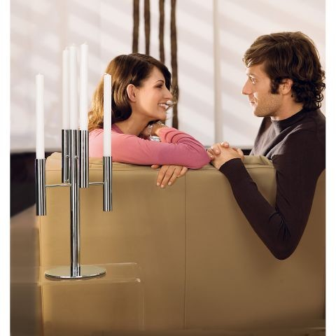 Подсвечник декоративный на 5 свечей WMF Living Lounge , высота 39,5 см, серебристый WMF 06 5567 6040 фото 2