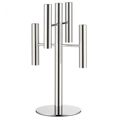 Подсвечник декоративный на 5 свечей WMF Living Lounge , высота 39,5 см, серебристый WMF 06 5567 6040 фото 0