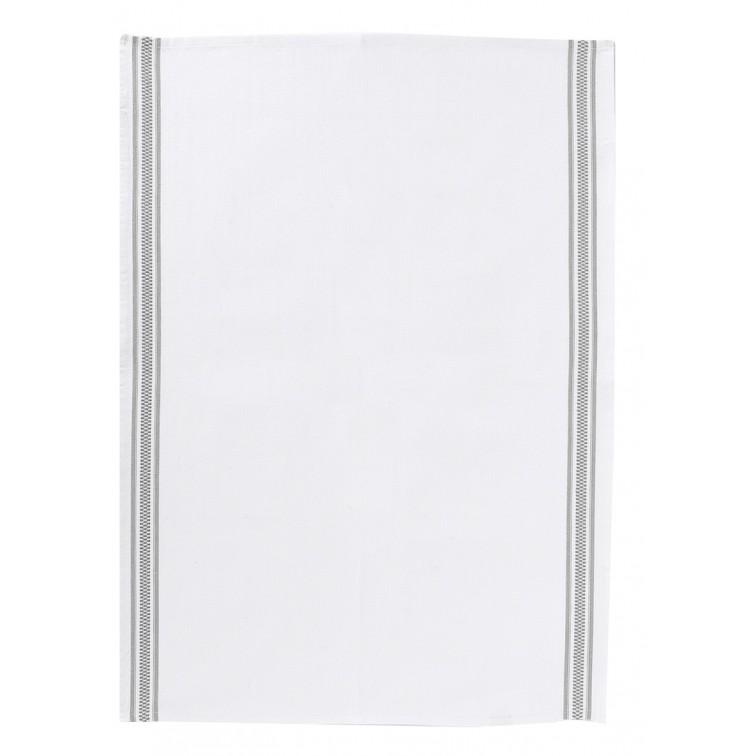 Онлайн каталог PROMENU: Полотенце кухонное Winkler TECHNIQUE, 50х70 см, белый с двумя серыми полосками Winkler 6072073000