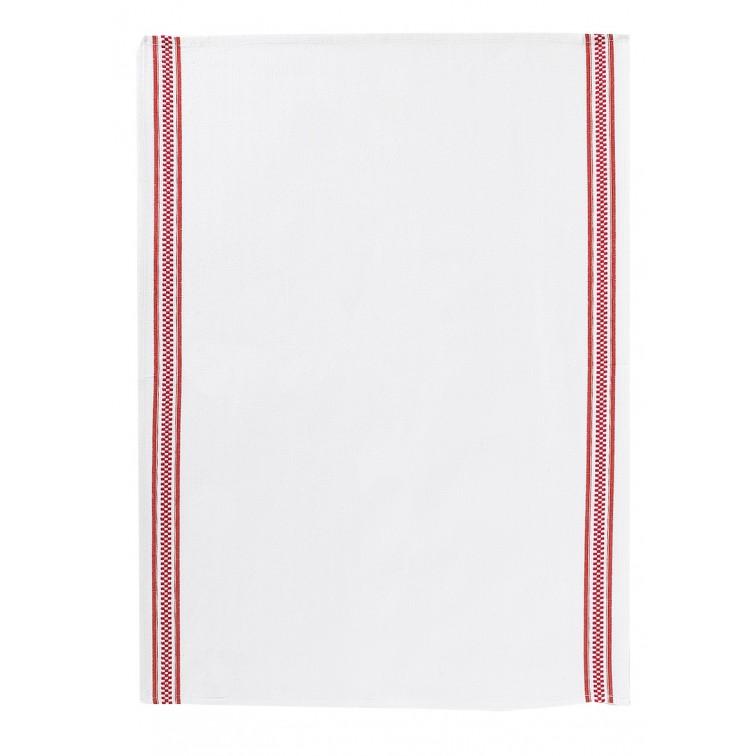 Онлайн каталог PROMENU: Полотенце кухонное Winkler TECHNIQUE, 50х70 см, белый с красными полосками Winkler 6072035000