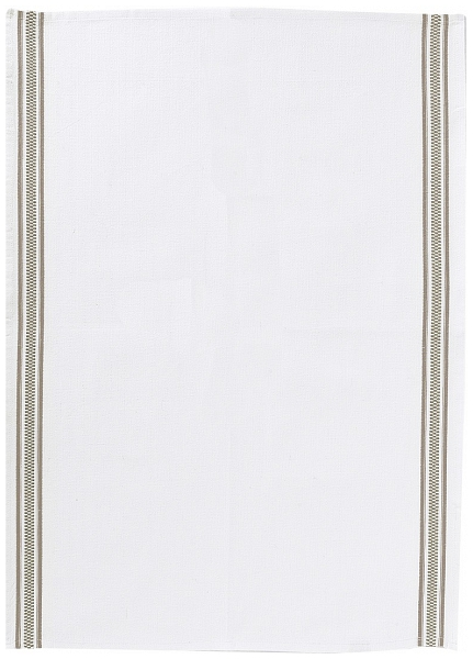 Онлайн каталог PROMENU: Полотенце кухонное Winkler TECHNIQUE, 50х70 см, белый с 2 темно-серыми полосами Winkler 6072087000