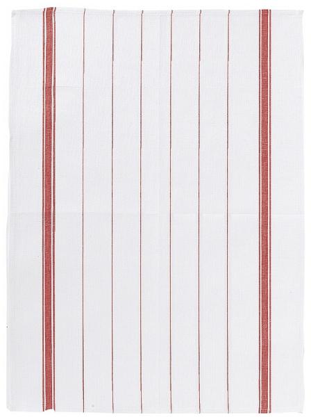 Онлайн каталог PROMENU: Полотенце кухонное Winkler TECHNIQUE, 55х75 см, белый в красную полоску Winkler 7337030000