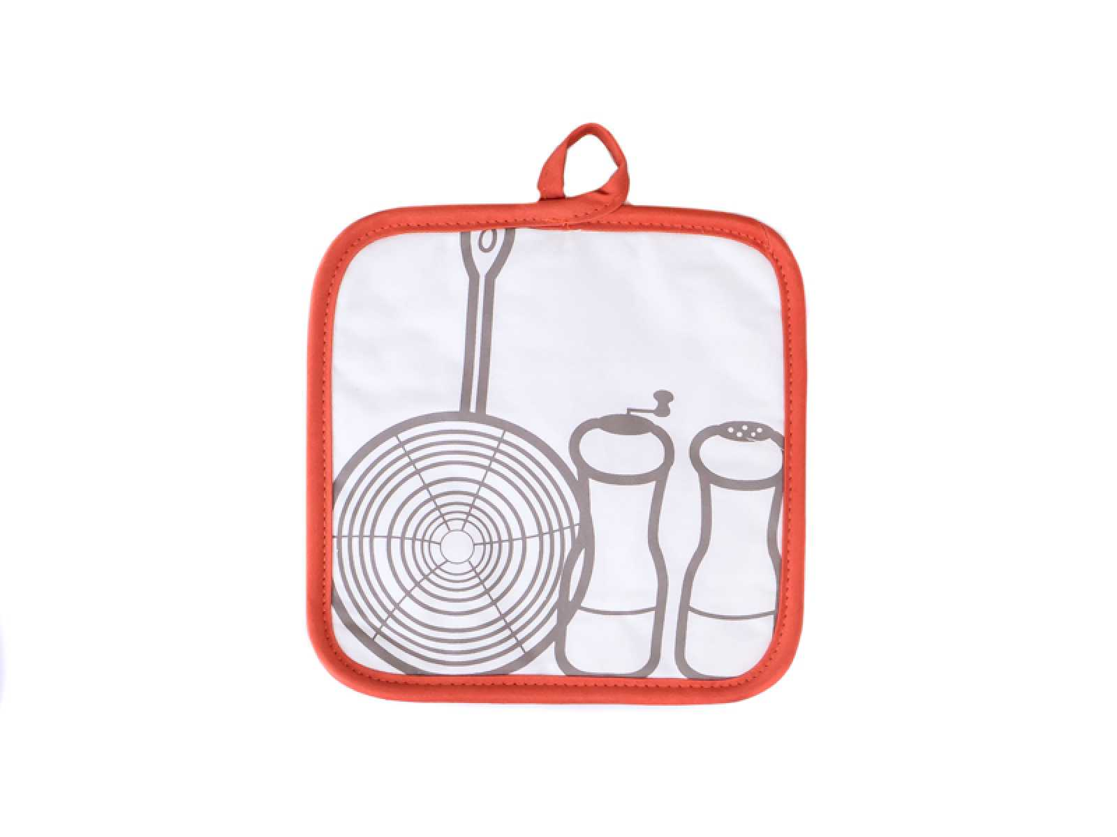 Онлайн каталог PROMENU: Прихватка кухонная Winkler FANTASY ORANGE, 20х20 см, белый с оранжевой окантовкой Winkler 5075734000