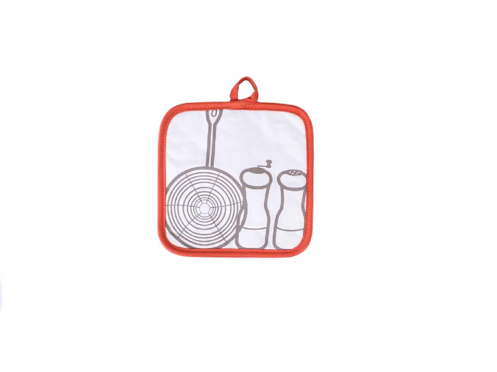 Прихватка кухонная Winkler FANTASY ORANGE, 20х20 см, белый с оранжевой окантовкой Winkler 5075734000 фото 1