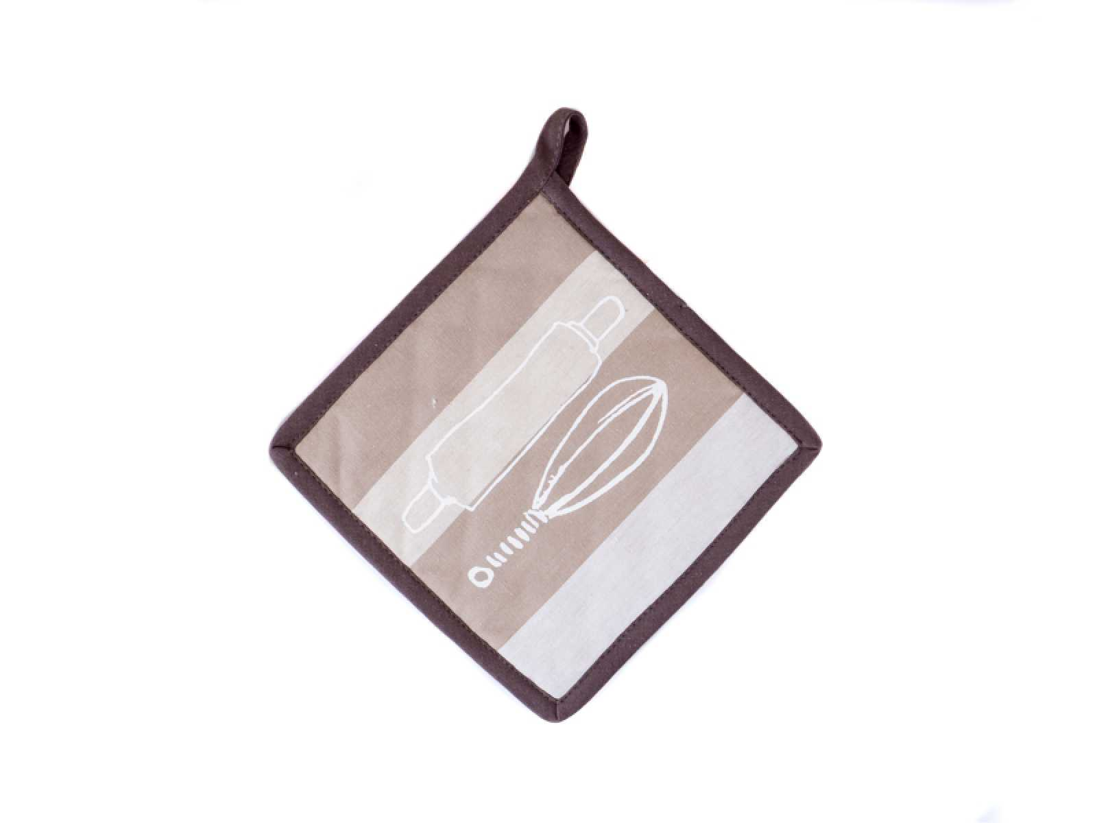 Онлайн каталог PROMENU: Прихватка кухонная Winkler FANTASY NATURAL, 20х20 см, бежевый в полоску Winkler 4626780000