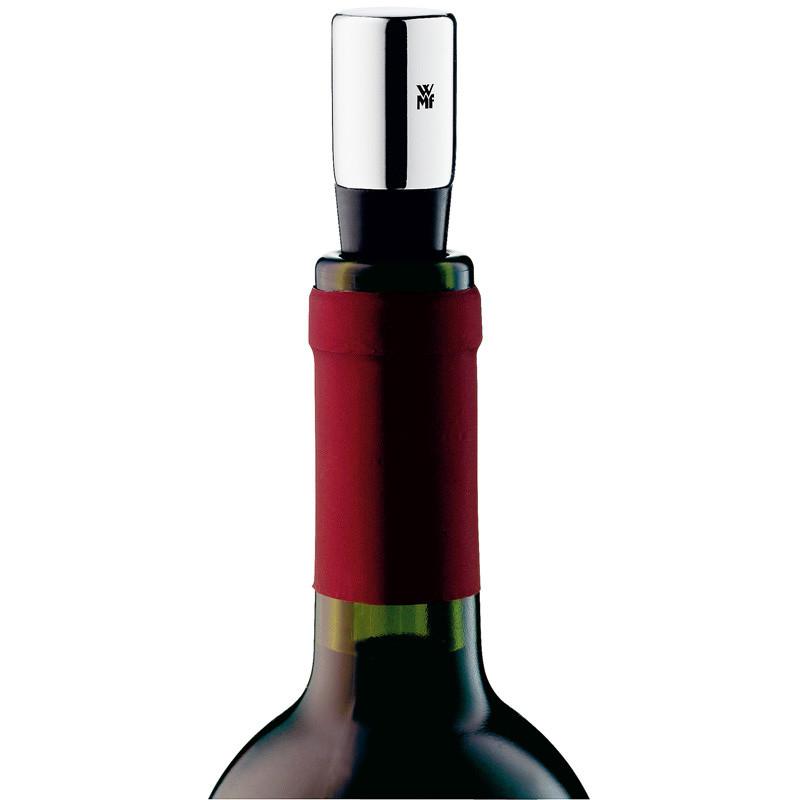 Пробка для бутылки вина WMF Vino, 8х8 см, серебристый с черным WMF 06 4072 7920 фото 1