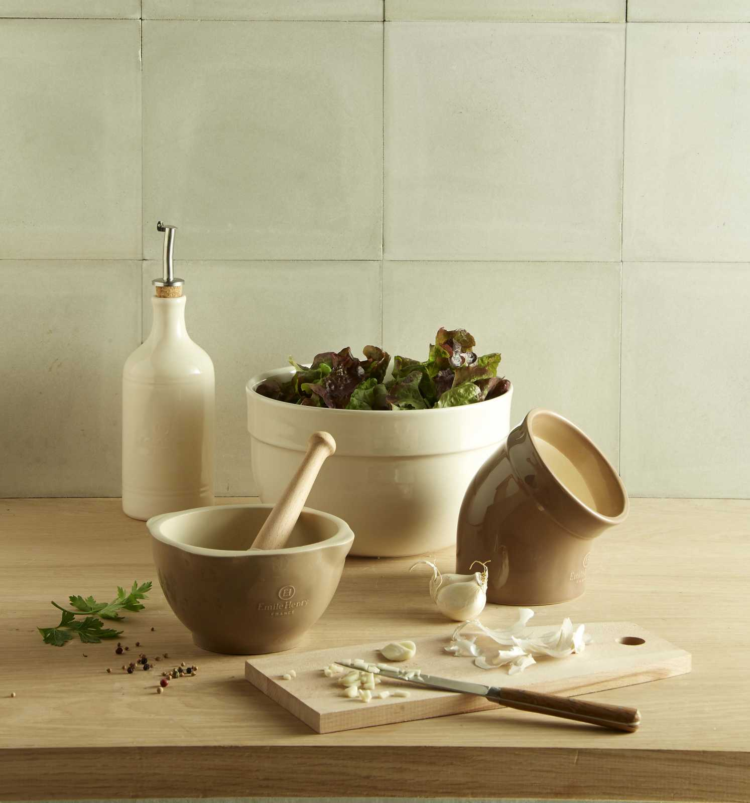 Салатник керамический Emile Henry Kitchen Tools, 21,5 см, бежевый Emile Henry 026524 фото 1