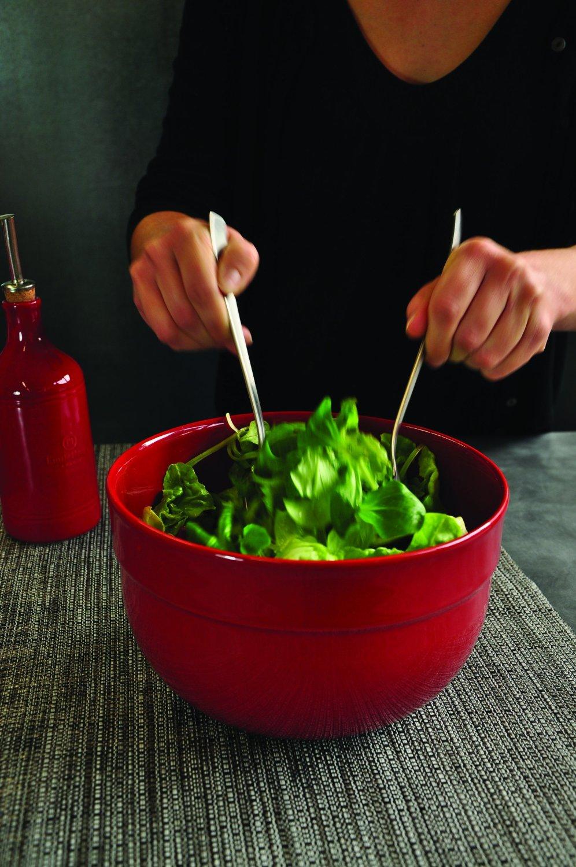 Салатник керамический Emile Henry Kitchen Tools, диаметр 21,5 см, красный Emile Henry 346524 фото 2