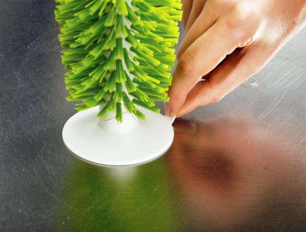 Щетка для стаканов на присоске brush-up Joseph Joseph, 12х22х8 см, зеленый Joseph Joseph 85103 фото 3