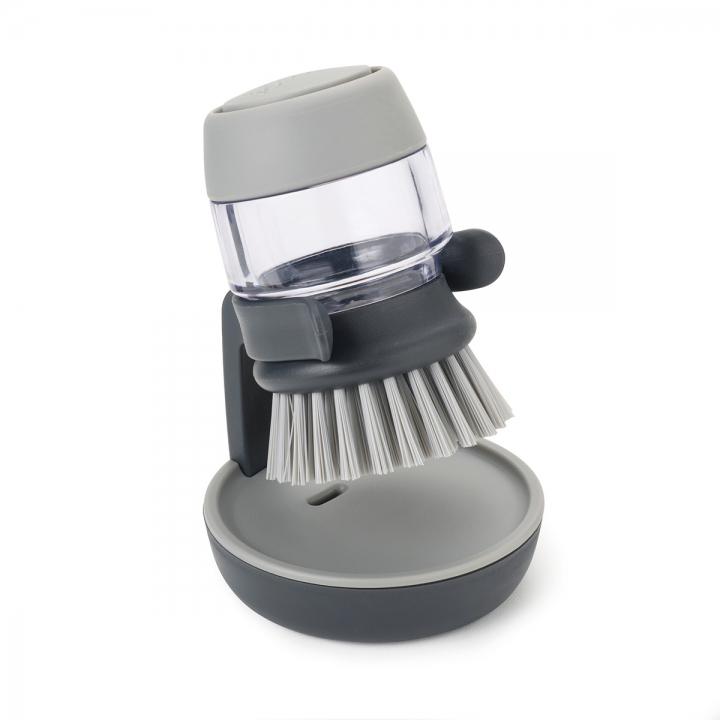 Онлайн каталог PROMENU: Щетка с дозатором моющего средства Joseph Joseph palm scrub, 8,8х13,5х9,5 см, серый Joseph Joseph 85005