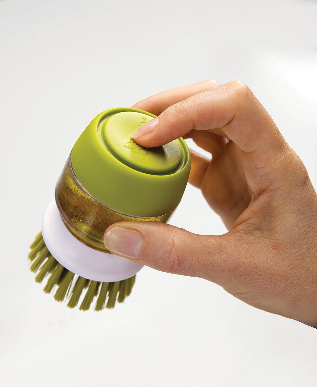 Щетка с дозатором моющего средства Joseph Joseph palm scrub, 8,8х13,5х9,5 см, зеленый Joseph Joseph 85004 фото 7