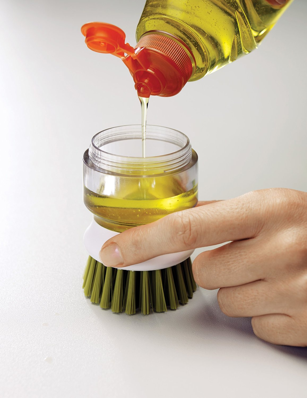 Щетка с дозатором моющего средства Joseph Joseph palm scrub, 8,8х13,5х9,5 см, зеленый Joseph Joseph 85004 фото 5